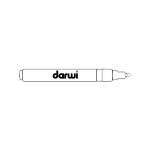 Белый. Акриловый маркер DARWI Acryl Opak  1 мм