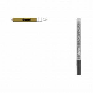Золото. Акриловый маркер DARWI Acryl Opak 1 мм