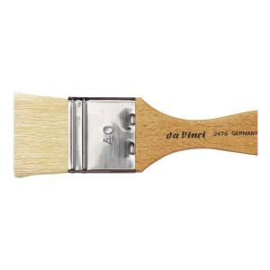 Кисть флейц Da Vinci 2475/отбел. щетина/лакированная ручка/№200