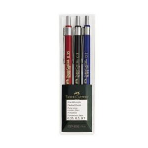 Механич.карандаши TK-FINE 0,35 0,5 0,7 мм в пластиковом пенале 3 шт