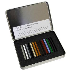 Набор воскосмоляных консервационных красок Gamblin 12 цв.