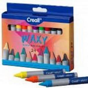 Набор восковой пастели Creall Waxy Havo, 24 шт (12цв.х2шт)/ картон.коробка