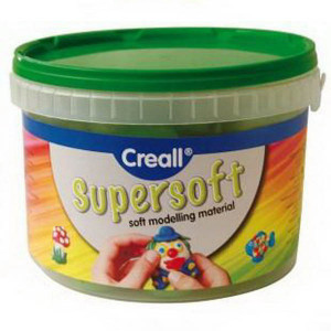 Пластилин, супермягкий Creall SuperSoft Havo/ Ассорти 5 цв. 1750 гр