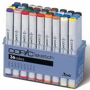 Набор маркеров  COPIC sketch (36 шт)