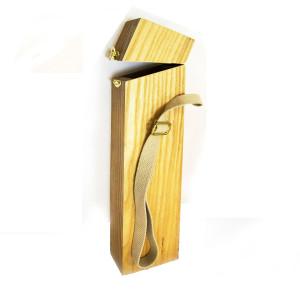 Пенал деревянный 40,5*9*5,2 (внутр.размеры) с ремешком