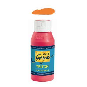 """Краска акриловая """"Solo Goya"""" Triton"""" / Оранжевый, 750мл в пластиковой бутылке"""