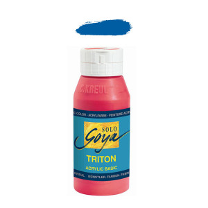 """Краска акриловая """"Solo Goya"""" Triton"""" / Кобальт синий, 750мл в пластиковой бутылке"""