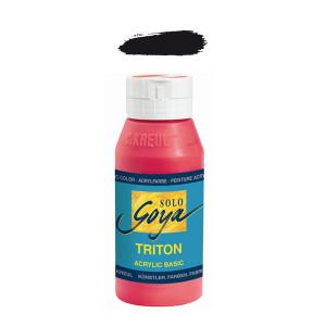 """Краска акриловая """"Solo Goya"""" Triton"""" / Чёрный, 750мл в пластиковой бутылке"""