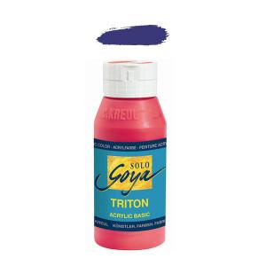 """Краска акриловая """"Solo Goya"""" Triton"""" / Фиолетовый, 750мл в пластиковой бутылке"""