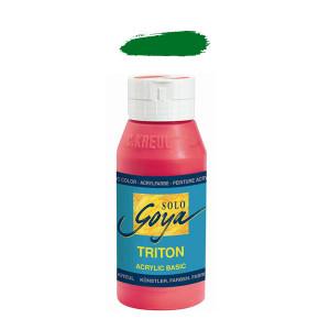 """Краска акриловая """"Solo Goya"""" Triton"""" / Зеленая листва, 750мл в пластиковой бутылке"""