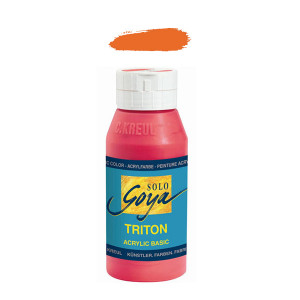 """Краска акриловая """"Solo Goya"""" Triton"""" / Абрикосовый, 750мл в пластиковой бутылке"""
