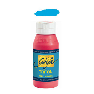 """Краска акриловая """"Solo Goya"""" Triton"""" / Голубой светлый, 750мл в пластиковой бутылке"""