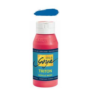 """Краска акриловая """"Solo Goya"""" Triton"""" / Церулеум, 750мл в пластиковой бутылке"""