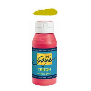 """Краска акриловая """"Solo Goya"""" Triton"""" /Оливковый зелёный, 750мл в пластиковой бутылке"""