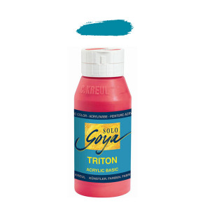 """Краска акриловая """"Solo Goya"""" Triton"""" /Бирюзовая, 750мл в пластиковой бутылке"""