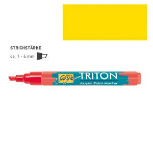 "ЖЕЛТЫЙ СВЕТЛЫЙ акриловый маркер  ""Solo Goya"" Triton"" 1-4 мм"