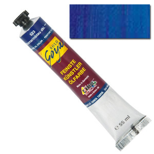 """Масляная краска """"Solo Goya"""" светло-голубой ультрамарин 55 мл"""