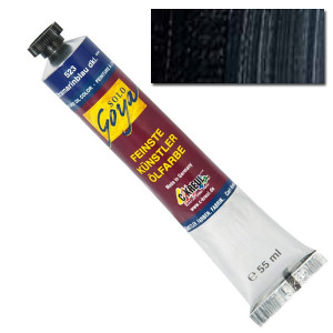 "Масляная краска ""Solo Goya"" слоновая кость черная 55 мл"