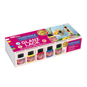 Набор  глянцевых акриловых красок Hobby Line 5 банок по 60 мл