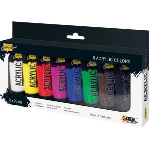 Набор акриловых красок Solo Goya Acrylic 8 цв х 20мл.