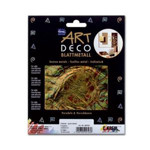 """Поталь Home Design ART DECO/ 6 листов 140х140/ """"Цветок"""", сине-золотая"""