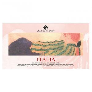 Блок ITALIA для акварели 12*23 см 300 г/м, 20 листов, 100 % хлопок