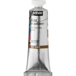 Металлическая  краска-вакса Pebeo//Серебро/туба 37мл