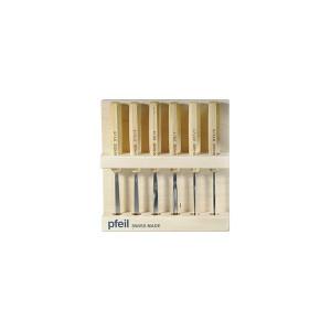 Набор компактных стамесок в деревянном дисплее Pfeil D6er