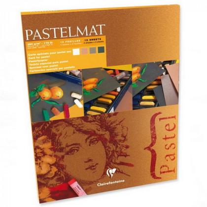 Склейка PASTEL MAT 30х40, 12 л. 4 цв./ пастельн.грунтов. бумага 360 гр