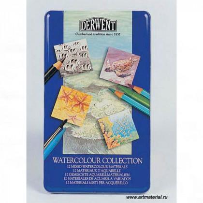 """Набор  """"Watercolour Collection"""" /для акварели /12 шт в мет.кор."""