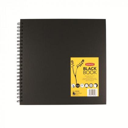 Альбом Black Book для эскизов 30,5х30,5 см/черн.бумага, спираль, 40 л./200 гр