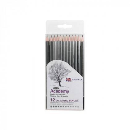 Набор карандашей для набросков Academy Sketching, 12 шт (5Н-6В)