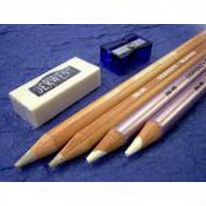 Набор  карандашей для растушевки Burnisher & Blender (4 карандаша, ластик, точилка)