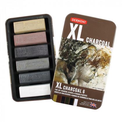 Набор  угля Charcoal XL 20*20*60мм / 6 цв. в металле