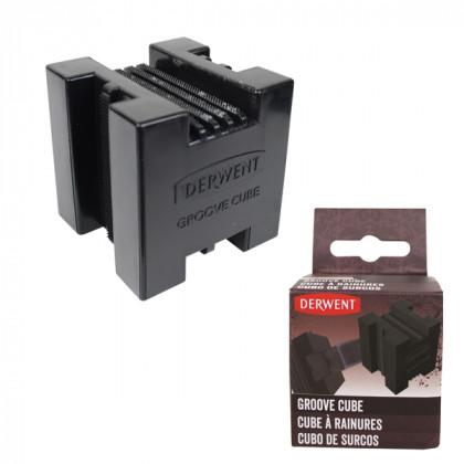 Куб для заточки угля, графита, блоков Groove Cube / пластик