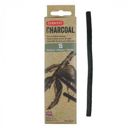 Уголь ивовый Willow Charcoal / тонкий 2-3мм/ 15 шт.