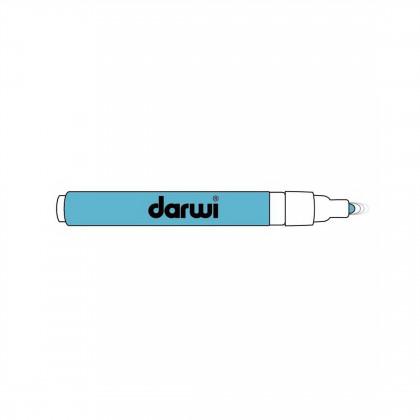 Голубой. Акриловый маркер DARWI Acryl Opak 1мм
