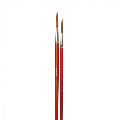 Кисть для реставрации круглая da Vinci 1287/ушной волос/удлиненная рабочая часть/острый край/№28