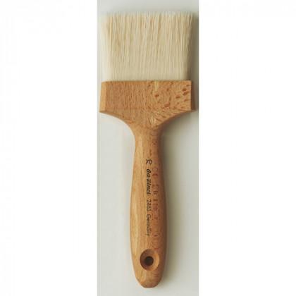 Кисть альфрейная Da Vinci 2483/плоская/для коррозионных материалов/белая синтетика/№70