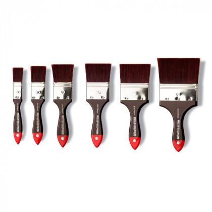 Кисть флейц Da Vinci 5040 COSMOTOP/красно-коричневая экстра жесткая синтетика/№40
