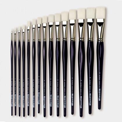 Синтетика IMPASTO плоск.белая  №16 /удлин. синяя ручка