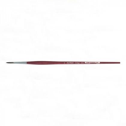 Синтетика круглая №10 /удлин. матовая бордовая ручка