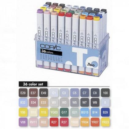 """Набор маркеров  """"COPIC"""" (36 шт) в пластик.контейнере"""