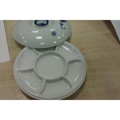 Палитра керамическая 6 ячеек, с крышкой  Д-18см