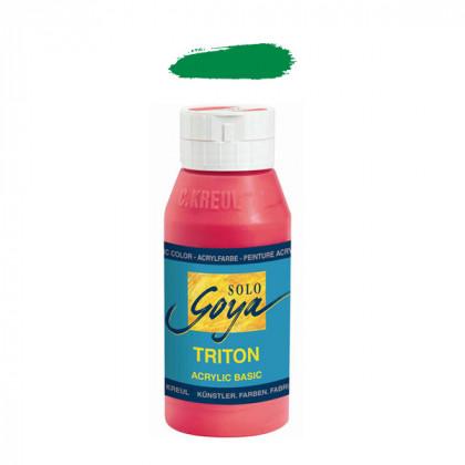 """Краска акриловая """"Solo Goya"""" Triton"""" / Зеленый стойкий, 750мл в пластиковой бутылке"""