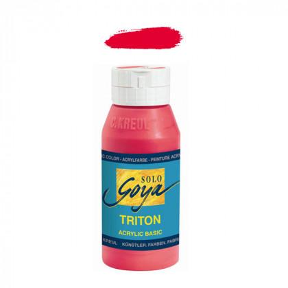 """Краска акриловая """"Solo Goya"""" Triton"""" / Красный винный, 750мл в пластиковой бутылке"""