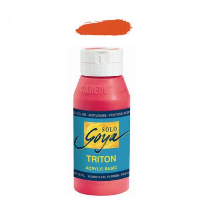 """Краска акриловая """"Solo Goya"""" Triton"""" / Киноварь, 750мл в пластиковой бутылке"""
