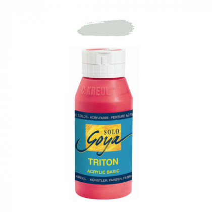 """Краска акриловая """"Solo Goya"""" Triton"""" / Серебро, 750 мл в пластиковой бутылке"""