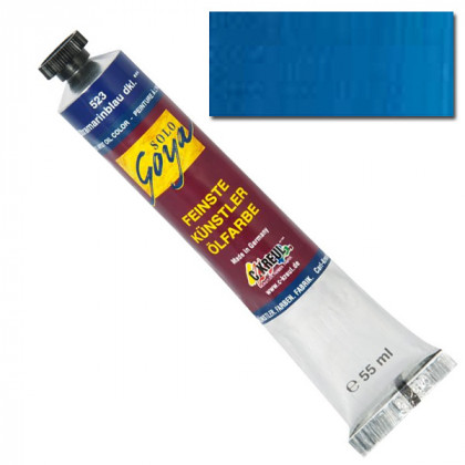"Масляная краска ""Solo Goya"" кобальт синий светлый 55мл"