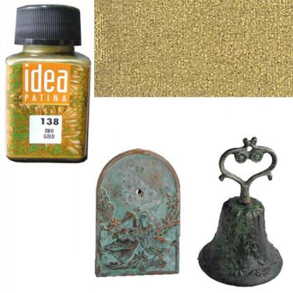 Металлическая краска-основа под хим. патину Maimeri/ золото